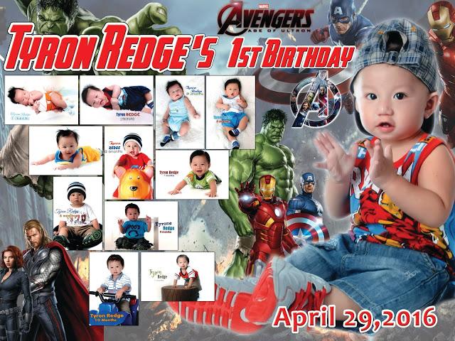 Avengers Birthday Tarpaulin Design Template