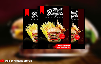 Adobe Photoshop 2020 : How To Design Restaurant Flyer (Food Flyer) in Photoshop CC