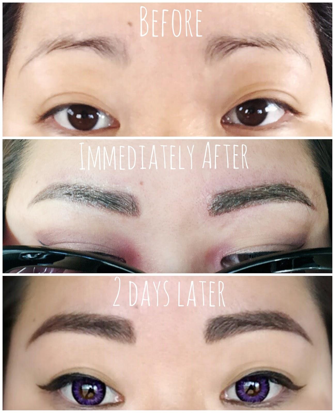 My Eyebrow Microblading Experience Kawaii Kauaian