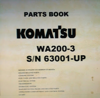 Parts Book wheel loader Komatsu WA200-3