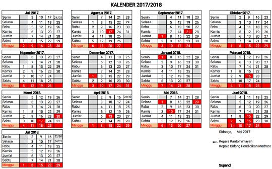 Kalender Tahun 2017-2018
