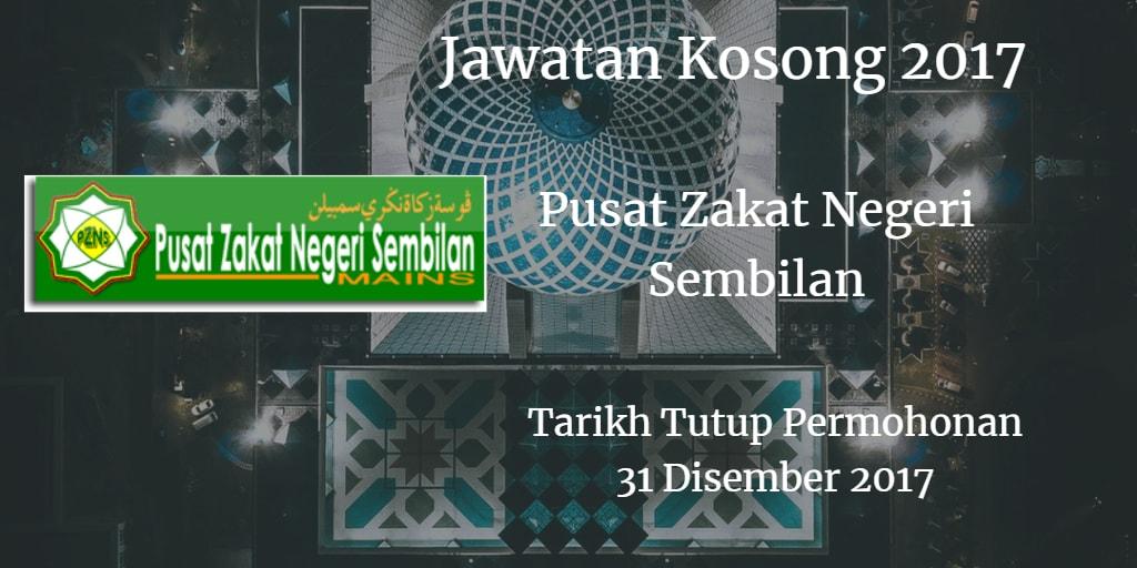 Jawatan Kosong Pusat Zakat Negeri Sembilan 31 Disember 2017