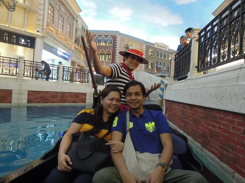Gondola ride at The Venetian Macao Resort Hotel