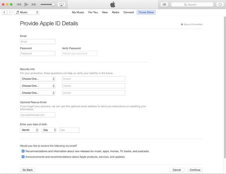 Membuat Apple ID menggunakan iTunes