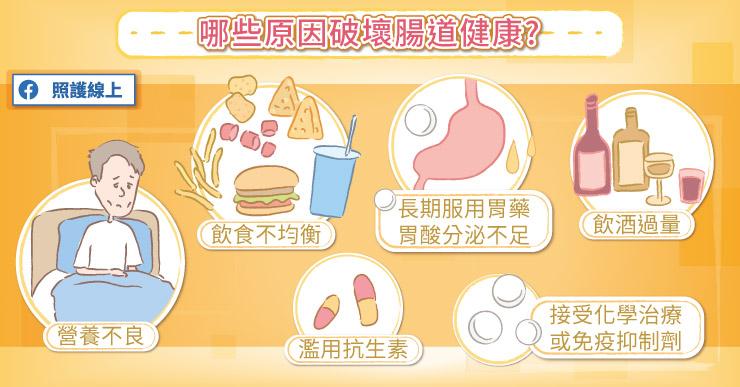 哪些原因會破壞腸健康