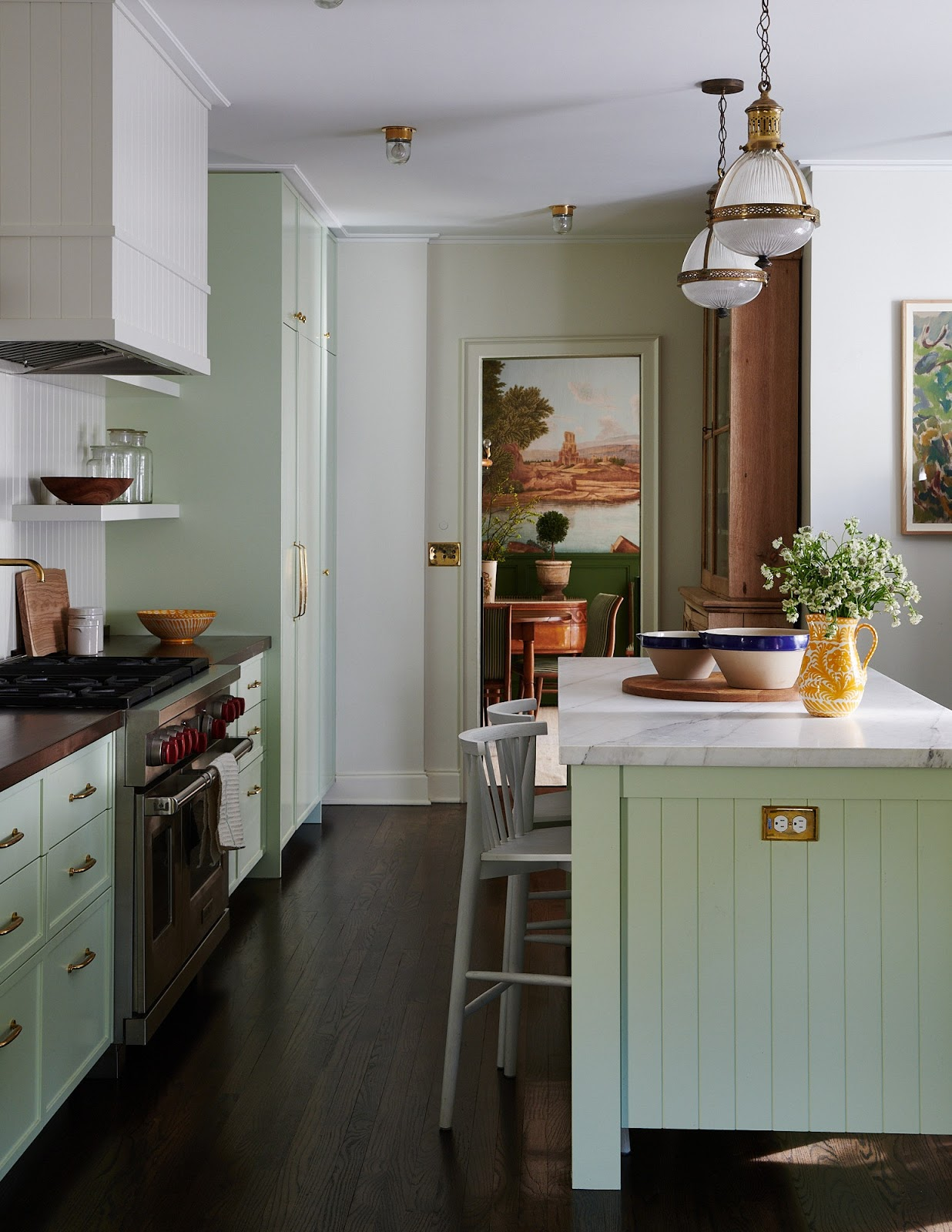 Green Kitchen Cabinets Casey Wilson Portola Paints , what shade of green cabinets to use