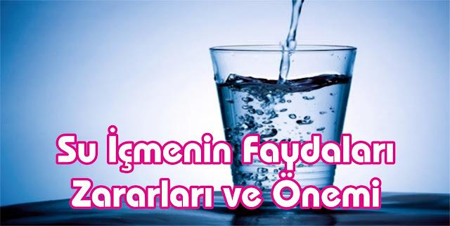 su içmek, faydaları ve zararları