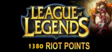 League of Legends - 1380 riot points grátis