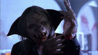 Dwight Renfield turns into a vampire in a movie still for the 1997 film Stephen King's The Night Flier