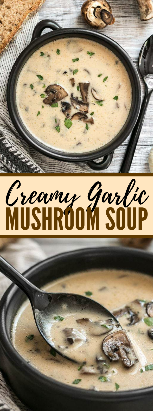 CREAMY GARLIC MUSHROOM SOUP #vegetarian #vegetables
