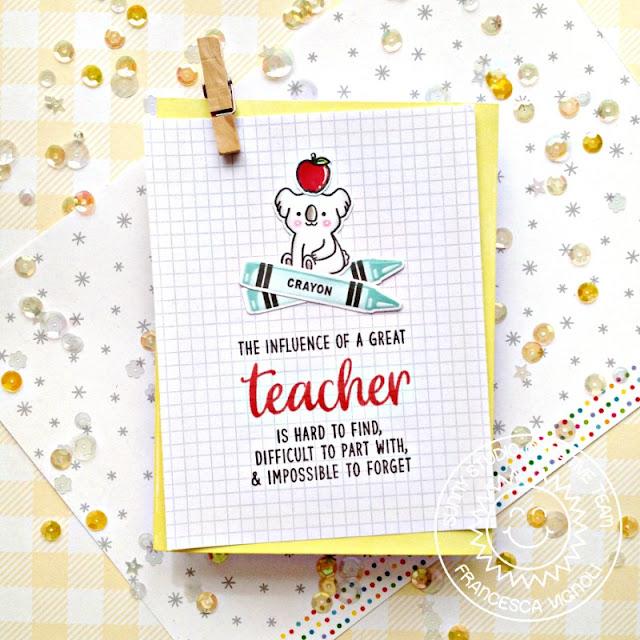 Sunny Studio Stamps: Teacher Appreciation Color My World Outback Critters Teacher Card by Franci Vignoli