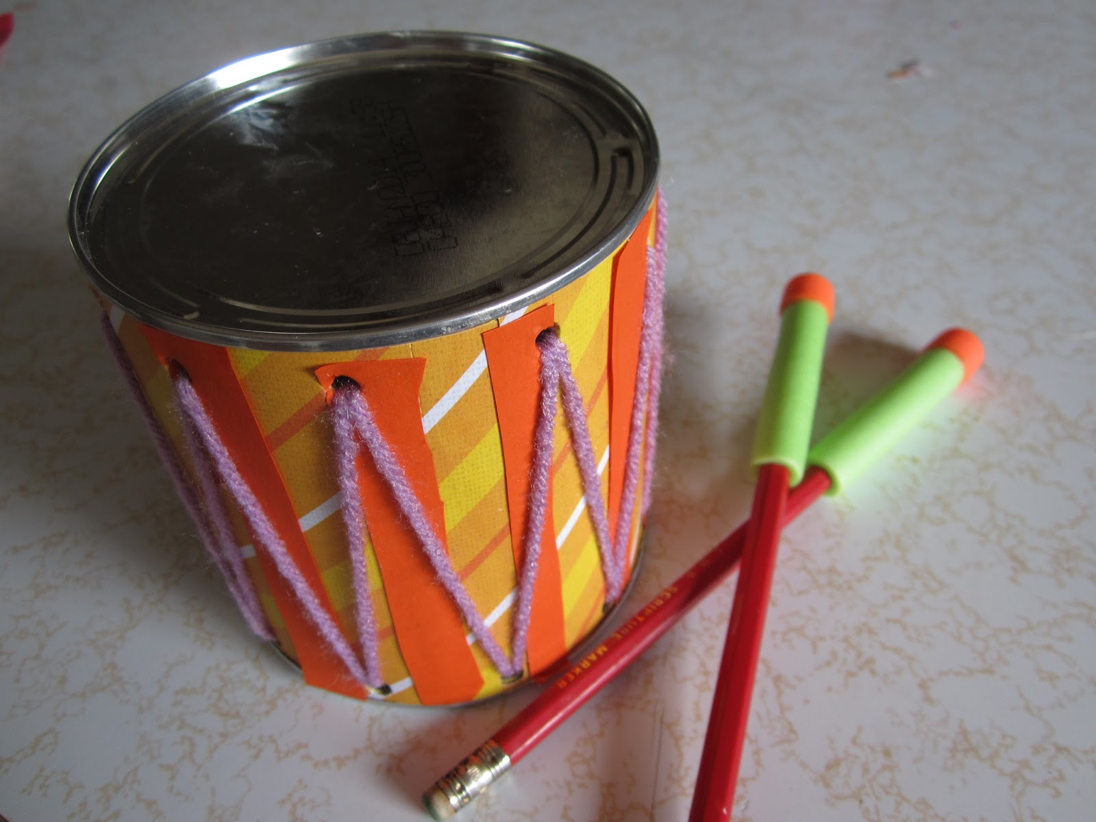 crafty couple: how to make a drum/musical instrument set for kids