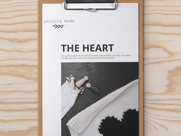 The Heart blanket knitting pattern is live!