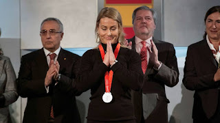HALTEROFILIA - El COI otorgó la medalla de plata de los JJOO Pekín 2008 a Lydia Valentín
