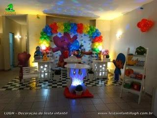 Decoração de aniversário Pocoyo para mesa do bolo - Festa infantil - RJ