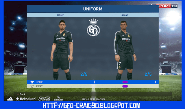 PES 2017 Real Madrid Kit Season 2002-2003