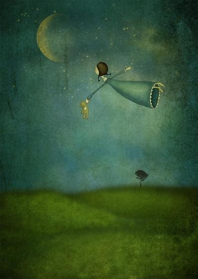 por Maja Lindberg | ilustraciones imaginativas, infantiles, cuentos, imagenes bonitas, emociones y sentimientos, illustration art, cool stuff, moon.