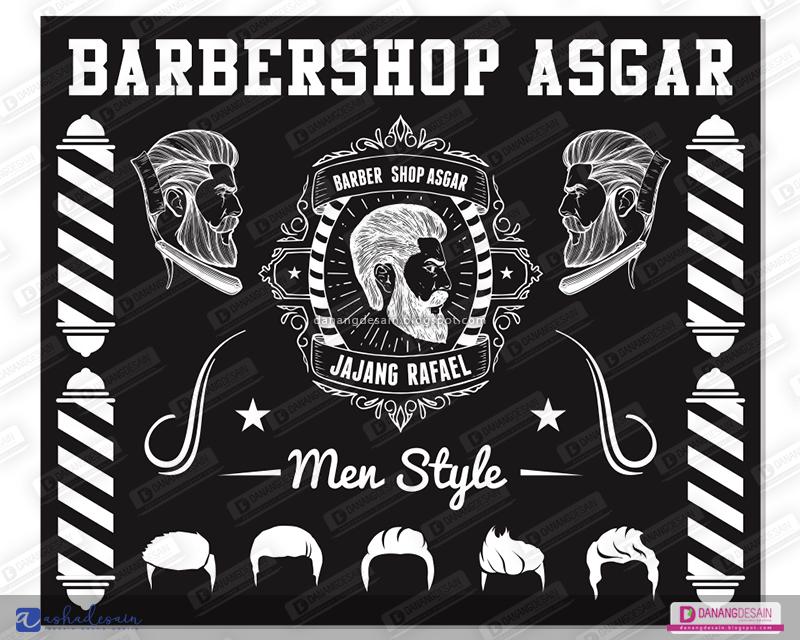 Contoh Desain Spanduk Banner Barbershop Potong Rambut ...