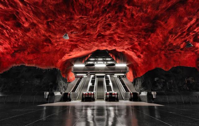 Stasiun Metro Stockholm, Stockholm, Swedia
