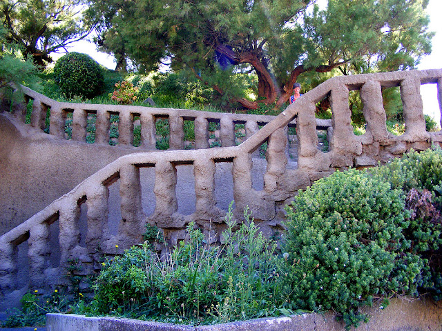 Staircase, Biarritz, Pyrenees-Atlantiques.  France. Photographed by Susan Walter. Tour the Loire Valley with a classic car and a private guide.
