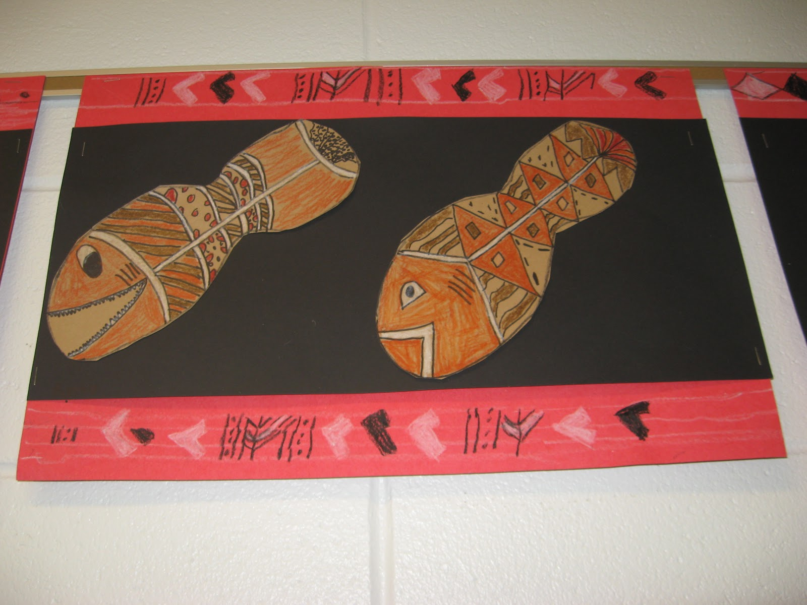 Jamestown Elementary Art Blog 1st Grade Aboriginal X Ray Fish