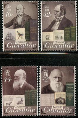Gibraltar 2009 Charles Darwin set
