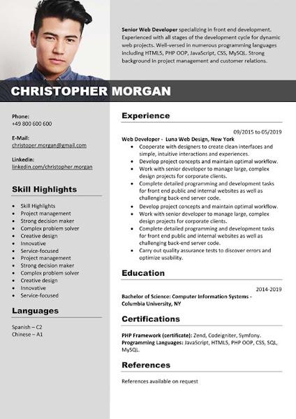 word resume editable