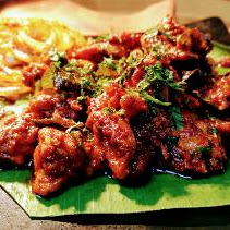 Serving chicken ghee roast for chicken ghee roast recipe