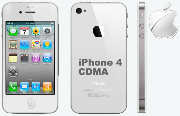 Apple iPhone 4 CDMA Specifications - LAUNCH Announced 2011, January DISPLAY Type LED-backlit IPS LCD, capacitive touchscreen, 16M colors Size 3.5 inches (~54.0% screen-to-body ratio) Resolution 640 x 960 pixels (~330 ppi pixel density) Multitouch Yes Protection Corning Gorilla Glass, oleophobic coating BODY Dimensions 115.2 x 58.6 x 9.3 mm (4.54 x 2.31 x 0.37 in) Weight 137 g (4.83 oz) SIM Micro-SIM PLATFORM OS iOS 4, upgradable to iOS 7.1.1 CPU 1.0 GHz Cortex-A8 Chipset Apple A4 GPU PowerVR SGX535 MEMORY Card slot No Internal 16/32 GB, 512 MB RAM CAMERA Primary 5 MP, autofocus, LED flash Secondary Videocalling over Wi-Fi only Features Geo-tagging, touch focus, HDR Video 720p@30fps NETWORK Technology CDMA / EVDO 2G bands CDMA 800 / 1900 3G bands CDMA2000 1xEV-DO Speed EV-DO Rev.A 3.1 Mbps GPRS No EDGE No COMMS WLAN Wi-Fi 802.11 b/g/n GPS Yes, with A-GPS USB v2.0 Radio No Bluetooth v2.1, A2DP FEATURES Sensors Sensors Accelerometer, gyro, proximity, compass Messaging iMessage, SMS (threaded view), MMS, Email, Push Email Browser HTML5 (Safari) Java No SOUND Alert types Vibration, proprietary ringtones Loudspeaker Yes 3.5mm jack Yes BATTERY  Non-removable Li-Po 1420 mAh battery Stand-by  Talk time  Music play  MISC Colors Black, White SAR US 1.18 W/kg (head)     0.87 W/kg (body)   - Scratch-resistant glass back panel - Active noise cancellation with dedicated mic - iCloud cloud service - Maps - Audio/video player/editor - Photo viewer/editor Voice memo/dial/command - TV-out - Document viewer - Predictive text input