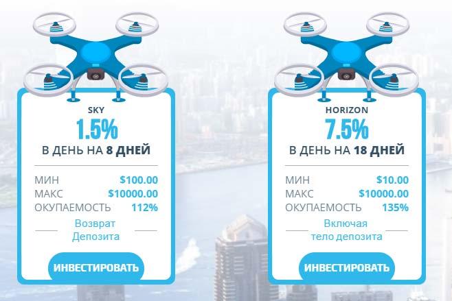 Инвестиционные планы Skydrone