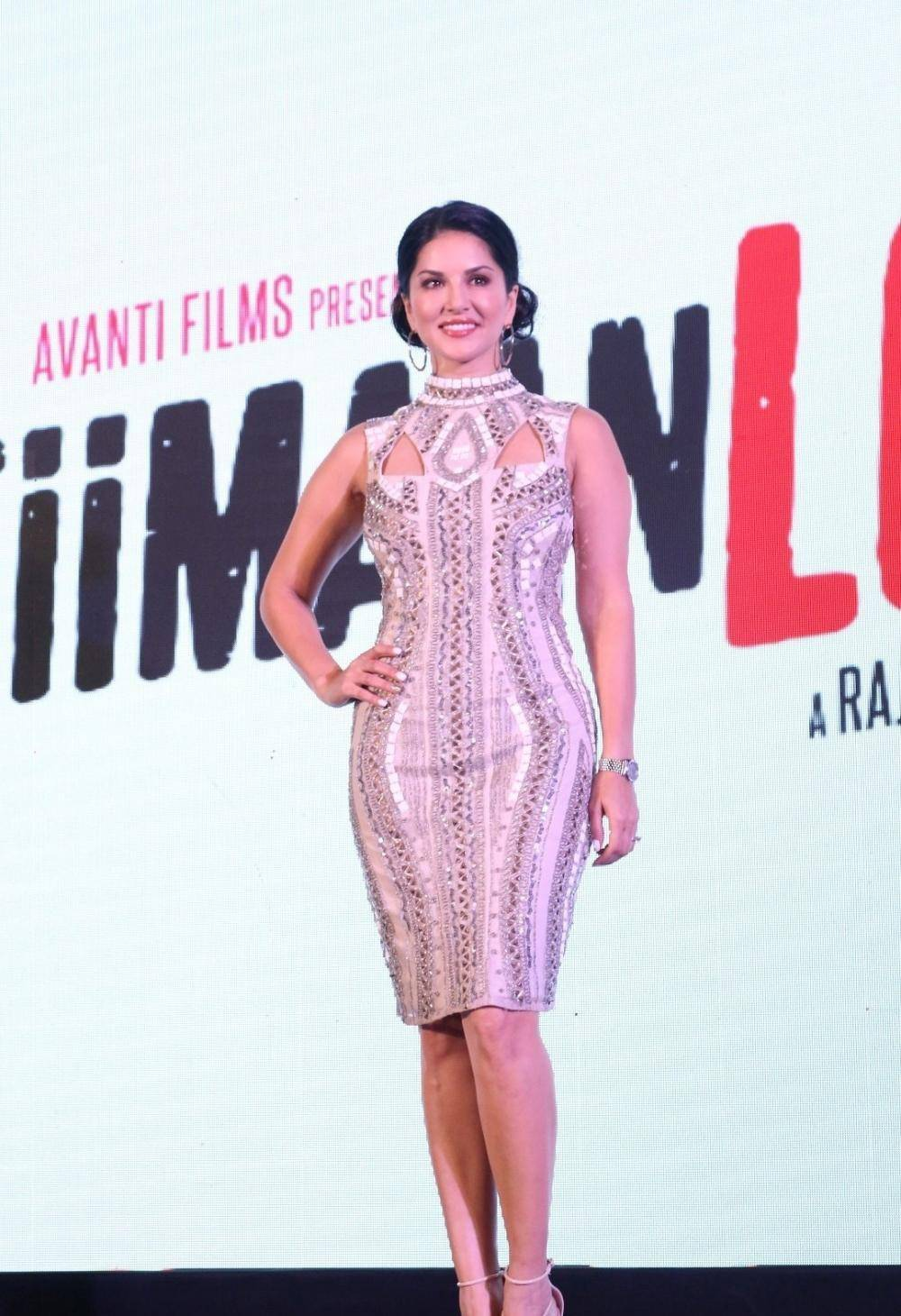 Sunny Leone Stills At Beiimaan Love Trailer Launch -4689