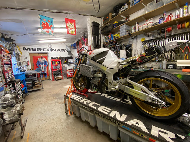 Honda SP1 Swingarm Conversion - Mercenary Garage Motorcycle Workshop - Image Ro Hickey