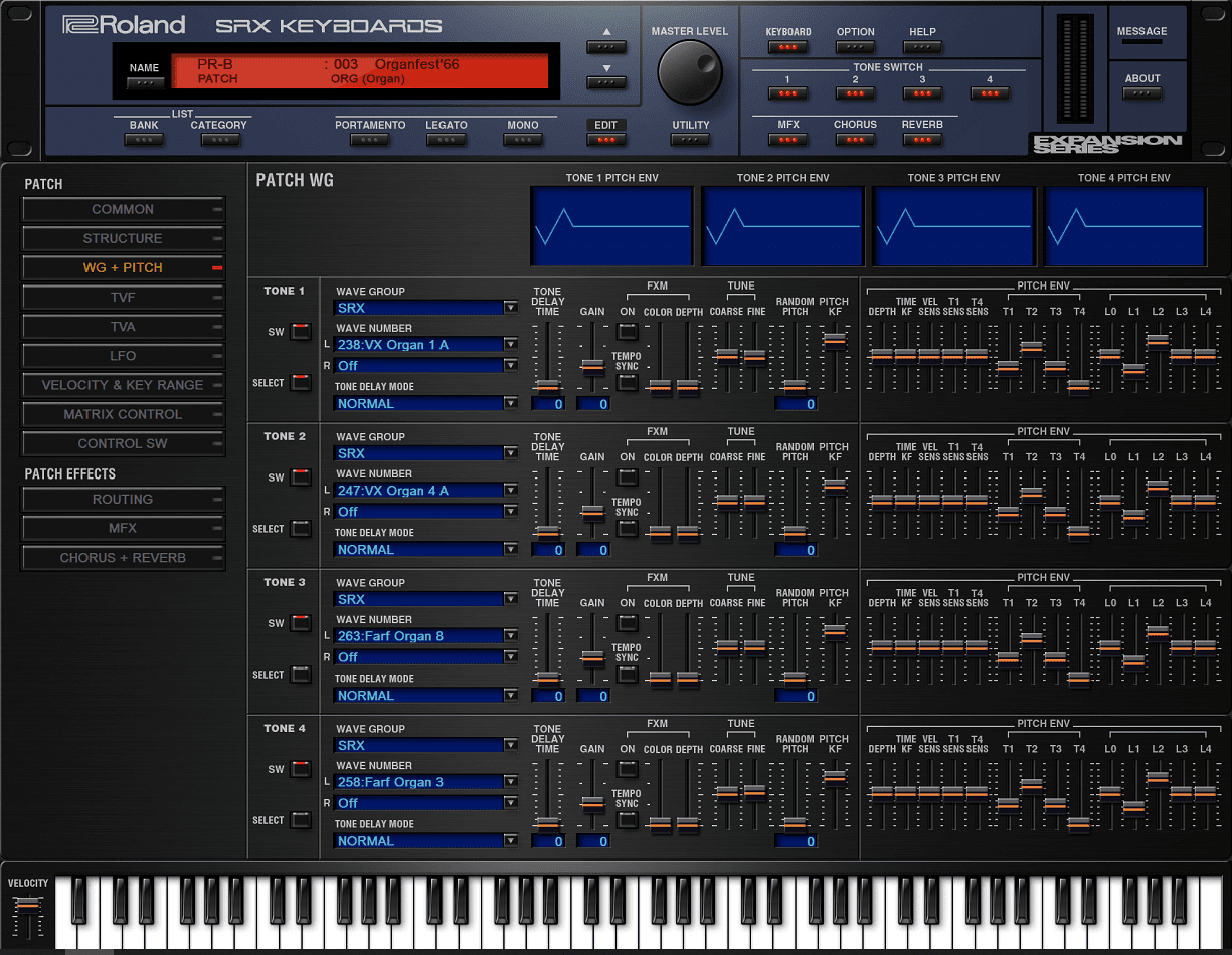 Roland VS SRX KEYBOARDS v1.01 Full version