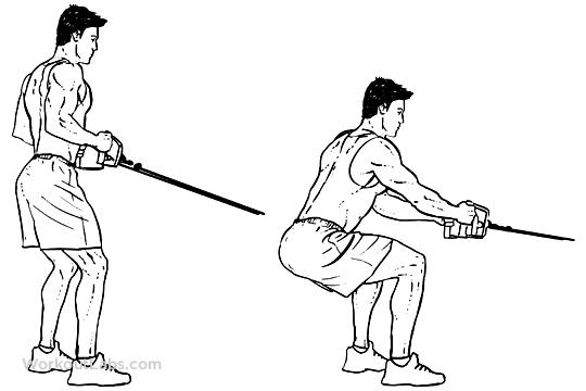 cable machine squats