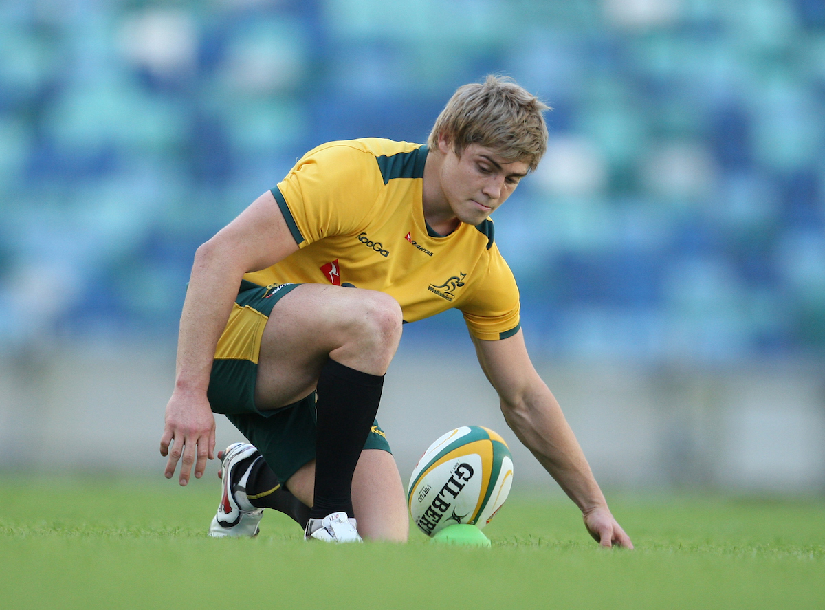 James O'Connor during the Australian National Rugby training session