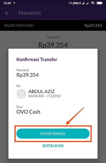 Cara transfer ovo ke bank BRI, BNI, BCA, Mandiri, dan semua bank Indonesia gratis
