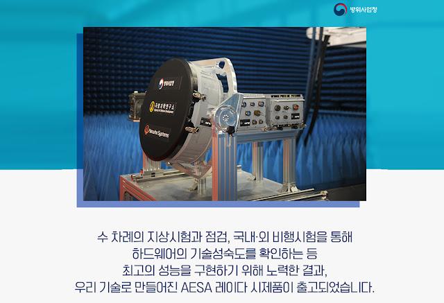 radar chủ động mới của Nam Hàn