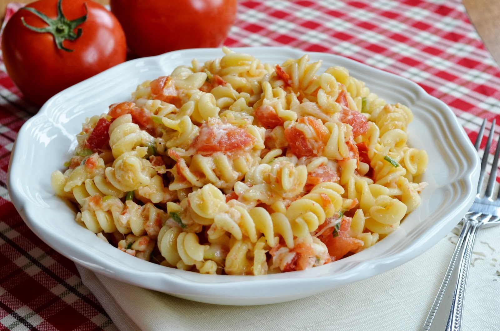 Our Beautiful Mess Pasta With Fresh Tomatoes And Mozzarella