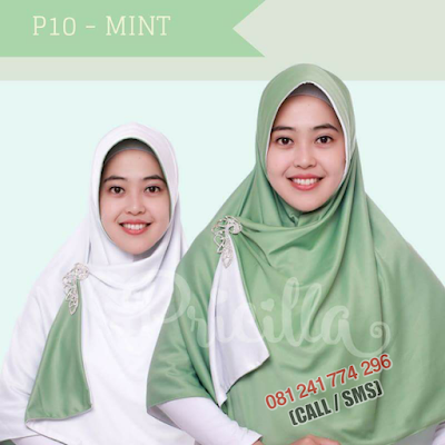 JILBAB Bolak Balik Atau Timbal Balik Original P10 - MINT