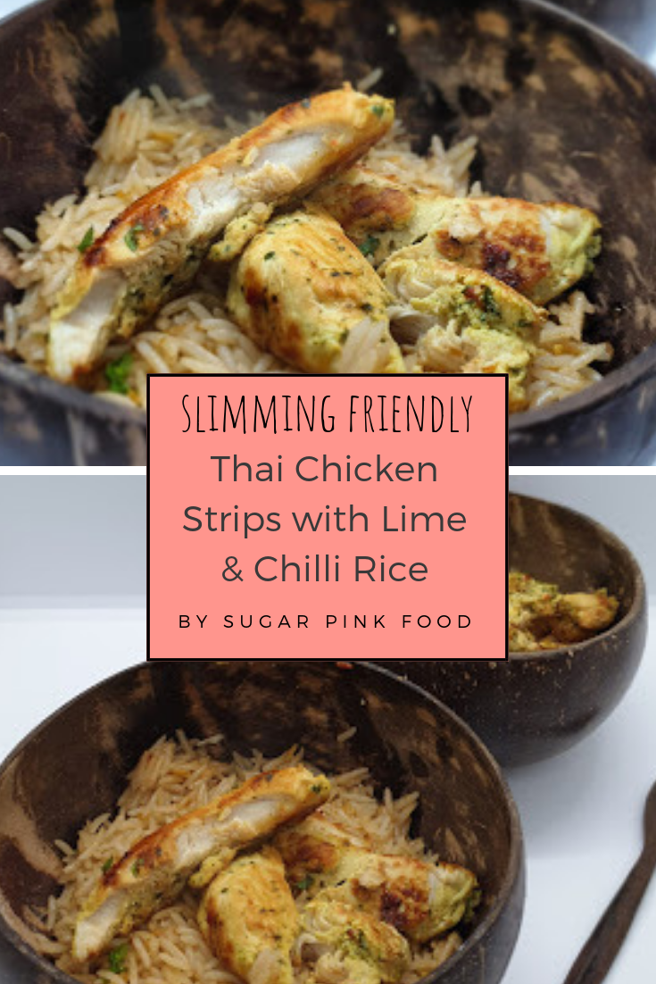 Thai Chicken Strips With Lime Coconut Rice