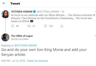 Victoria Kimani forms out depressingly over the exclusion of Kenyans in the Beyoncé Lion King tracklist