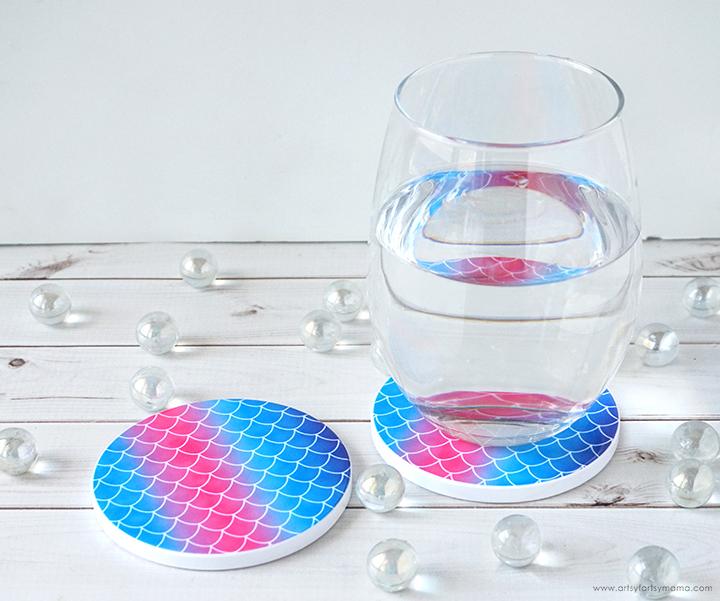 Cricut Infusible Ink Mermaid Coasters