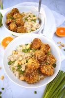 Sticky Sesame Vegan Meatballs