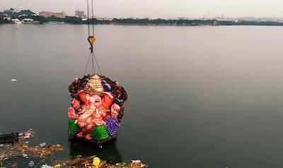 Ganesha Visarjan.