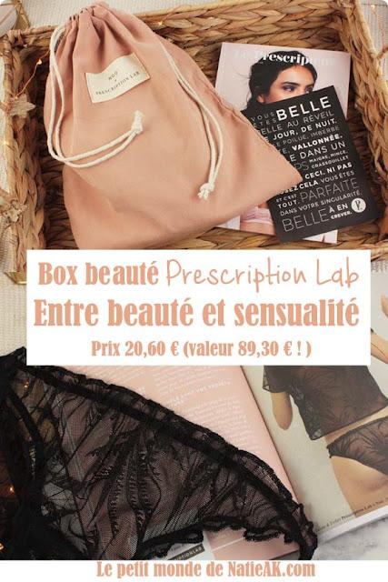 lingerie et soins : box beauté