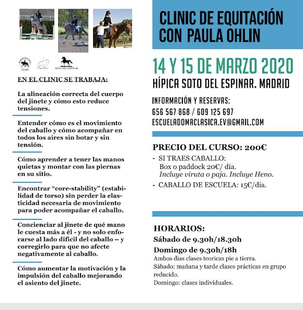 Clinic con Paula Ohlin en Madrid