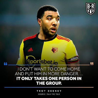 troy deeney will not play or train because of coronavirus covid 19