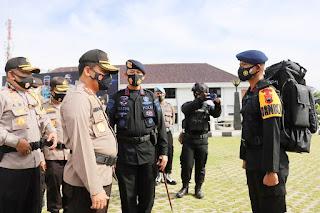 Polda Jateng Laksanakan Pergeseran Pasukan BKO Pengamanan Pilkada 2020