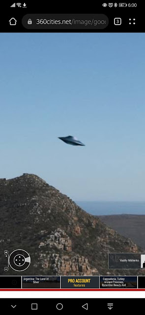 This is a screenshot of the Flying Saucer in Google Earth.