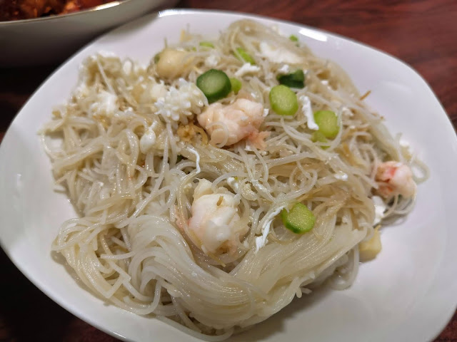 Braised Rice Vermicelli with Seafood and Dried Scallop